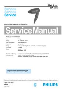 Instrukcja serwisowa Philips HP 4802