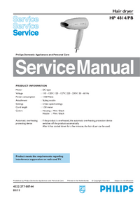 Service Manual Philips HP 4814/PB
