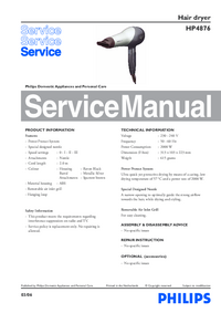 Service Manual Philips HP4876