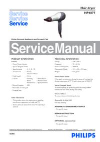 Instrukcja serwisowa Philips HP4877