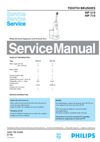 Manual de servicio Philips HP 510