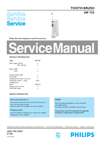 Service Manual Philips HP 735