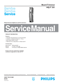 Service Manual Philips HQ-T 301