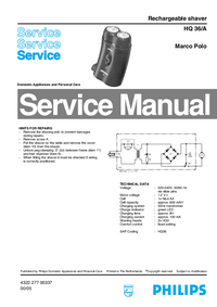 Service Manual Philips HQ 36/A Marco Polo