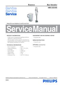 Service Manual Philips Essence HR1355/05