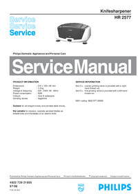 Service Manual Philips HR 2577