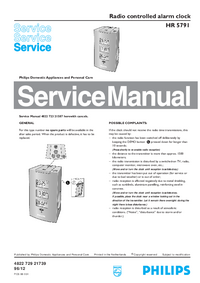 Service Manual Philips HR 5791