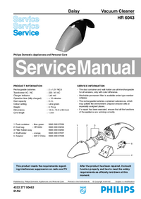 Service Manual Philips Daisy HR 6043