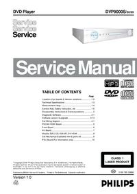 Instrukcja serwisowa Philips DVP9000S/00/69