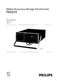Manual de servicio Philips PM3219