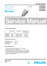 Service Manual Philips HR 6060/A