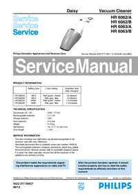 Manual de servicio Philips Daisy HR 6063/B