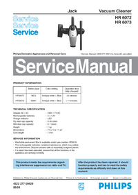 Service Manual Philips Jack HR 6072
