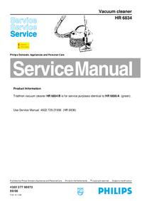 Manual de serviço Philips HR 6834