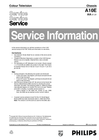 Service Manual Philips Chassis A10E