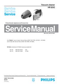 Serviceanleitung Philips HR 8542