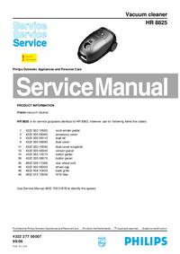 Manuale di servizio Philips HR 8825