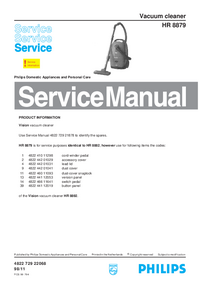 Manual de serviço Philips HR 8879