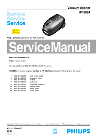 Service Manual Philips HR 8884