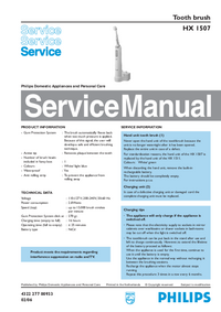 Manual de serviço Philips HX 1507