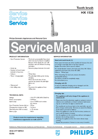 Manual de serviço Philips HX 1526