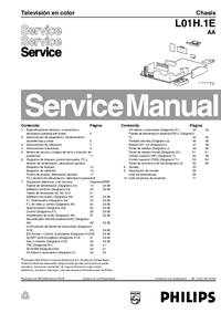 Manual de servicio Philips Chassis L01H.1E