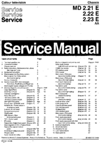 Service Manual Philips Chassis MD 2.21 E