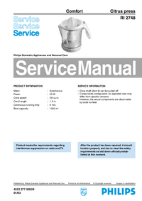 Manual de servicio Philips RI 2748