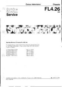 Manual de servicio Philips Chassis FL4.26 AA