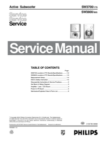 Service Manual Philips SW3800 00S