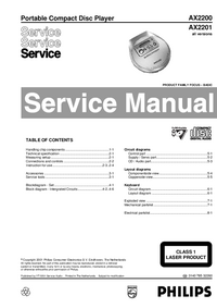Service Manual Philips AX2200
