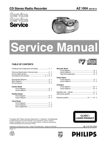 Manual de servicio Philips AZ 1004