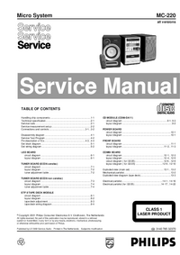 Servicehandboek Philips MC-220