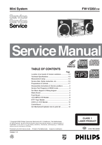 Manual de servicio Philips FW-V330