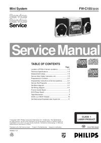 manuel de réparation Philips FW-C155