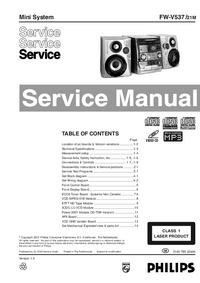 Service Manual Philips FW-V537
