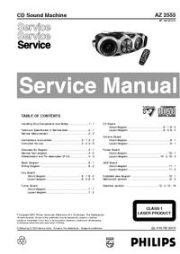 Manuale di servizio Philips AZ 2555