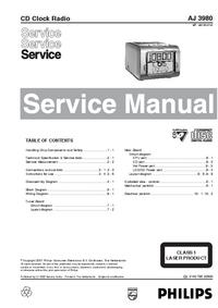 manuel de réparation Philips AJ 3980