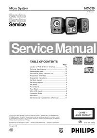 Serviceanleitung Philips MC-320