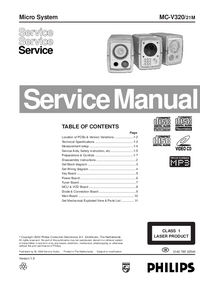 Manual de servicio Philips MC-V320