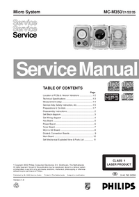 Service Manual Philips MC-M350