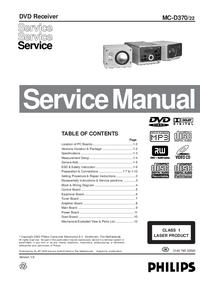 manuel de réparation Philips MC-D370