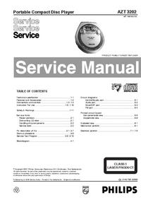Servicehandboek Philips AZT 3202