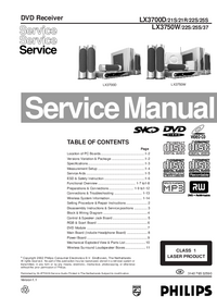 Service Manual Philips LX3750W