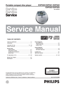 Service Manual Philips EXP322