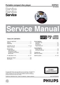 manuel de réparation Philips EXP521