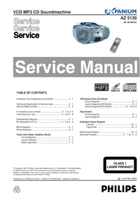 Service Manual Philips Expanium AZ 5130