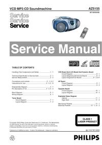 Servicehandboek Philips AZ5155