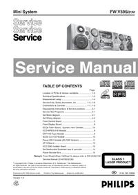 Instrukcja serwisowa Philips FW-V595