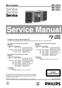 Manual de servicio Philips MC-122